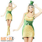St Paddy's Bling Ladies St Patricks Irish Fancy Dress Costume 6 8 10 12 14