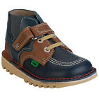 Infant Boys Kickers Kick Hi Leather Boot In Dark Blue From Get The Label