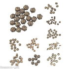 10-100PCs Bronze Polygon Heave Figure Acrylic Plastic Beads