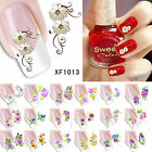 Beautiful Flower Nail Art Stickers Decal Water Transfer Manicure DIY 3D Tips