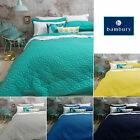 5 Colors Regent Embossed Coverlet / Bedspread + 2 Pillowcases QUEEN / KING by Ba
