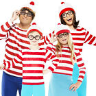 Where's Wally Adult Mens Ladies Boys Girls Fancy Dress Outfit Book Fun Costume