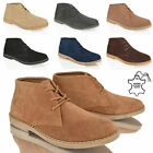 MENS CASUAL DESERT SUEDE LEATHER CHUKKA LACE ANKLE BOOTS SHOES SMART WORK SIZE