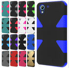 For HTC Desire 626 IMPACT TUFF HYBRID Protector Case Skin Cover +Screen Guard