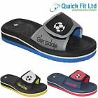 NEW MENS FOOTBALL WALKING HOLIDAY FLIP FLOP BEACH SANDALS MULES SLIPPERS SHOES