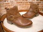 Earth Origins Paris Brown Leather & Suede Ankle Boot NEW