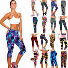 High Waist Fitness Yoga Sport Pants Women Running Gym Stretch Capri 3/4 Leggings