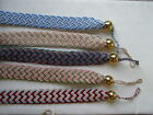 DESIGNER BRAIDED CORD & BRASS BALL TIEBACKS - PAIR , lounge, bedroom, dining