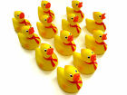 12 SOFT YELLOW RUBBER DUCKIES DUCKS BABY SHOWER BIRTHDAY PARTY SQUIRT TOY FAVOR
