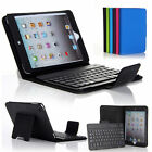 For New iPad Mini 3 2 1 Stand Leather Case Removable Wireless Bluetooth Keyboard
