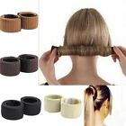 Women Girls Hair Styling Donut Former Foam French Twist Magic DIY Tool Bun Maker