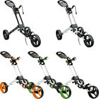 2015 Masters iCart One - 3 Wheel One Click Golf Trolley Pull Push Golf Cart