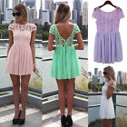 Women Summer Bandage BodyCon Lace Evening Party Cocktail MINI Dress