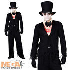 Zombie Bridegroom Halloween Mens Fancy Dress Party Costume Outfit + Hat
