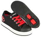Heelys X2 Fresh Unisex Wheeled Roller Shoe Black Red - Size J11 5UK  Free DVD
