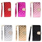 Luxury Glitter Rhinestone Flip Leather Wallet Card Case Cover For iPhone 6 PLUS