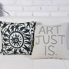"""Simple Literary Style Office Decor Cushion Cover Pillow Case Square 18"""" Linen"""