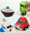 """12 pc 2 1/2"""" SOFT FOAM STRESS RELAXABLE THERAPY SQUEEZE BALL CAR SHIP TRAIN TOY"""