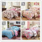 Single/King/Queen/Double Bed Doona Cover Set New 100% Cotton Linen Pillow Cases