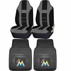 MLB Miami Marlins Rubber Floor Mat High Back Seat Cover Universal Combo on Ebay