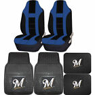 MLB Milwaukee Brewers Rubber Front Rear Floor Mat Seat Cover Universal Set on Ebay
