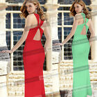 Women Sexy Side Slit Cut Out Back Party Formal Prom Mermaid Long Maxi Dress 1130