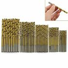 50Pcs 1/1.5/2/2.5/3mm Titanium Coated HSS High Speed Steel Drill Bit Set Tool