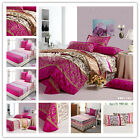Floral Quilt Doona Duvet Cover Set Double/Queen/King Size Sheet Set 100%Cotton