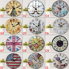 1 Vintage 13.4 in Diameter Large Wood Wall Clocks Home Living Dining Room Parlor