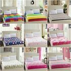 Striped/Floral/Dots Striped Bed Fitted Sheets Queen Size Bed Linen Bedding Set