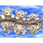 5D Three Tigers DIY Diamond Painting Cross Stitch Kits Home Decor Perfect UK ED