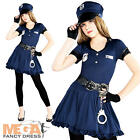 Police Officer + Hat Girls Fancy Dress US Cop Uniform Teens Child Costume Outfit