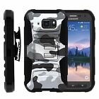 For Samsung Galaxy S6 Active Rugged Holster Hard Belt Clip Stand Case GRAY CAMO