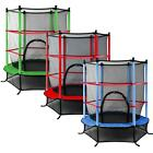 "Trampoline With Safety Net 55"" 4.5FT Junior Kids Three Colours Outdoor Activity"