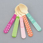 Initialled Mini Stiff Pud Spoons Birthday, Combining, or Accessory Decorations