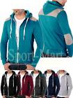 Mens Conspiracy Brame Elbow/Shoulder Patch Hooded Sweatshirt Hoody Mens Size
