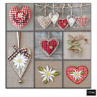 Hearts shabby chic  Love BOX FRAMED CANVAS ART Picture HDR 280gsm