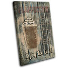Cafe Coffee Frappuccino   Food Kitchen CANVAS WALL ART Picture Print VA
