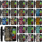 For LG Volt | F90 Case Rugged Combo Holster Camo Designs Stand Shell Refined