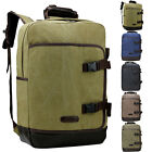 Fashion Vintage Pure Color Large Capacity Canvas Man Backpack Satchel School Bag