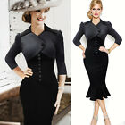 VINTAGE 50'S STYLE ROCKABILLY PENCIL WIGGLE PIN UP PARTY MERMAID PLUS SIZE DRESS