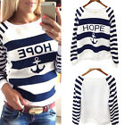 Fashion Women Casual Round Neck Pullover T-Shirt Lady Long Sleeve Top Blouse New