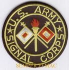 US ARMY SIGNAL CORPS EMBROIDERED PATCH FORT GORDON MOS 25 RADIO WIRE SCHOOL WOW