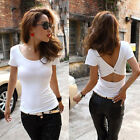 Sexy Womens Halter Nightclub Top Slim Sleeve Blouse Casual Tank Tops T-Shirt