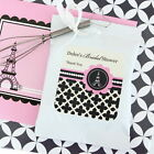 48 Personalized Parisian Paris Theme Hot Cocoa Mix Pouches Wedding Favors