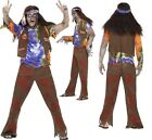 Mens Zombie 1960s 60s Hippy Hippie Halloween Retro Fancy Dress Costume Outfit