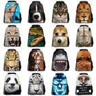3D Animal Print Boys Girls Daypack Backpack Travel Sports Bag Rucksack SchoolBag