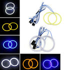 2pcs 60mm White/Yellow/Blue Car LED COB Angel Eyes Halo Ring Fog Lamp Headlight