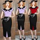 Women Evening Elegant Formal Office Classic Bodycon Party Pencil Wiggle Dress IT