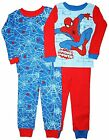 Marvel Spiderman 4 PC Long Sleeve Tight Fit Cotton Pajama Set Boy Size 5T